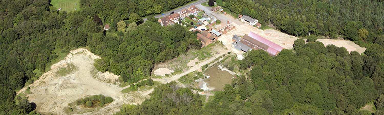 Aerial shot of site