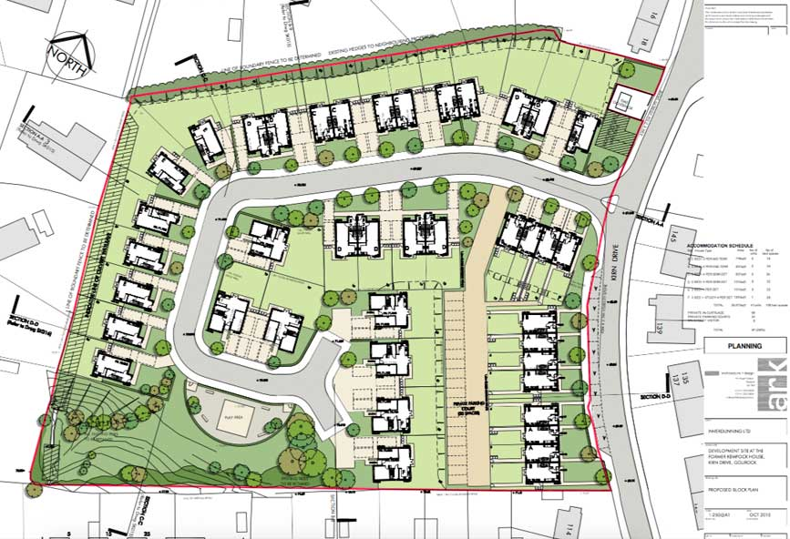 Planning Consent Granted for 41 new houses in Gourock ...